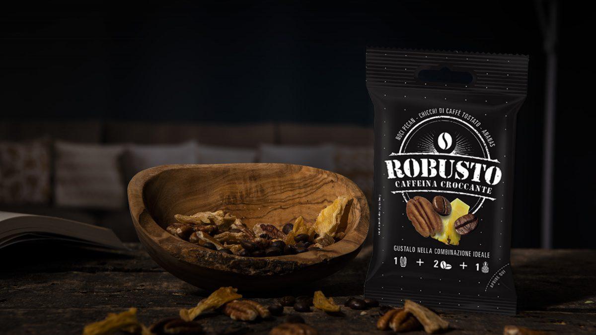 """Caffeina croccante: il nuovo snack è """"Robusto"""""""